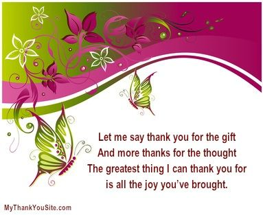 for you to use in your thank you cards! Thank You Cards, Thank You ...