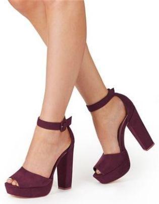 8b128ec1536a Plum Platform Sandals from Next