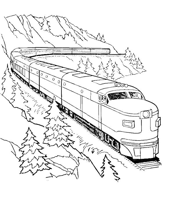 A Very Long Train Coloring Pages Transportation Coloring Pages Kidsdrawing Free Coloring Page Train Coloring Pages Coloring Pages Dinosaur Coloring Pages