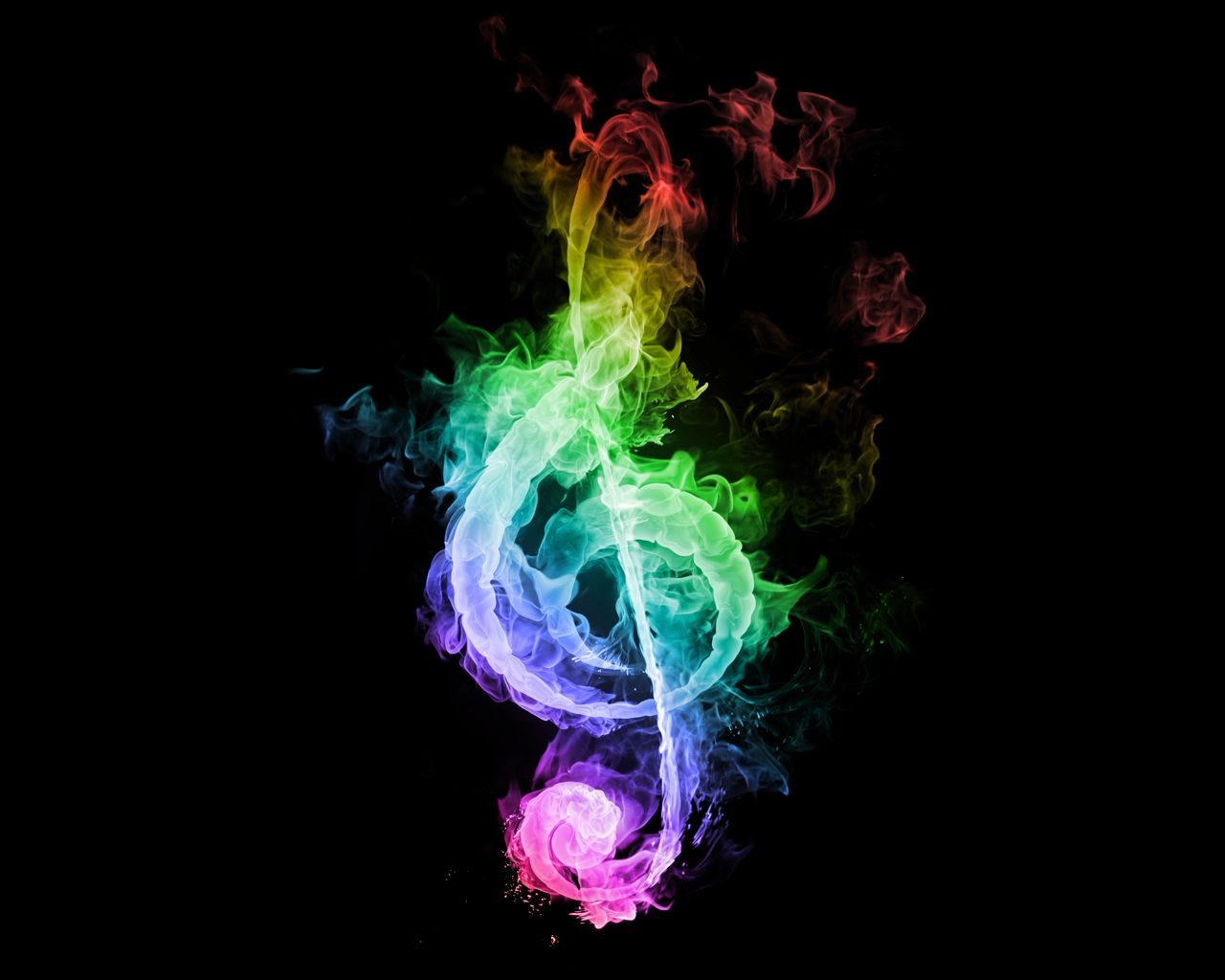 Rainbow treble clef