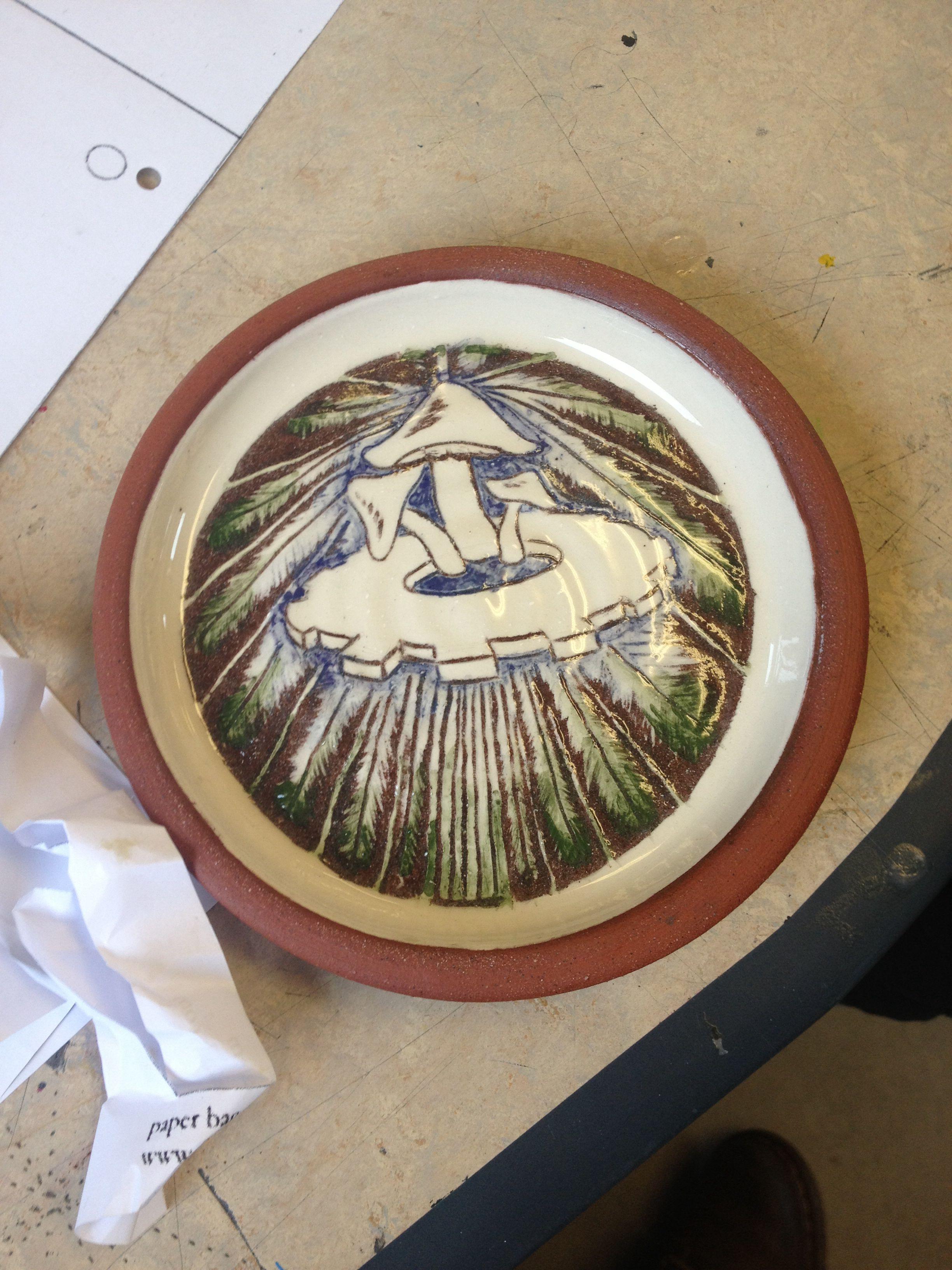 amygration - ceramic plate (organic and industrial)