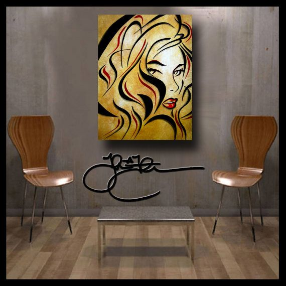 Abstract print painting Modern Home Decor HUGE Canvas WALL Art by Fidostudio
