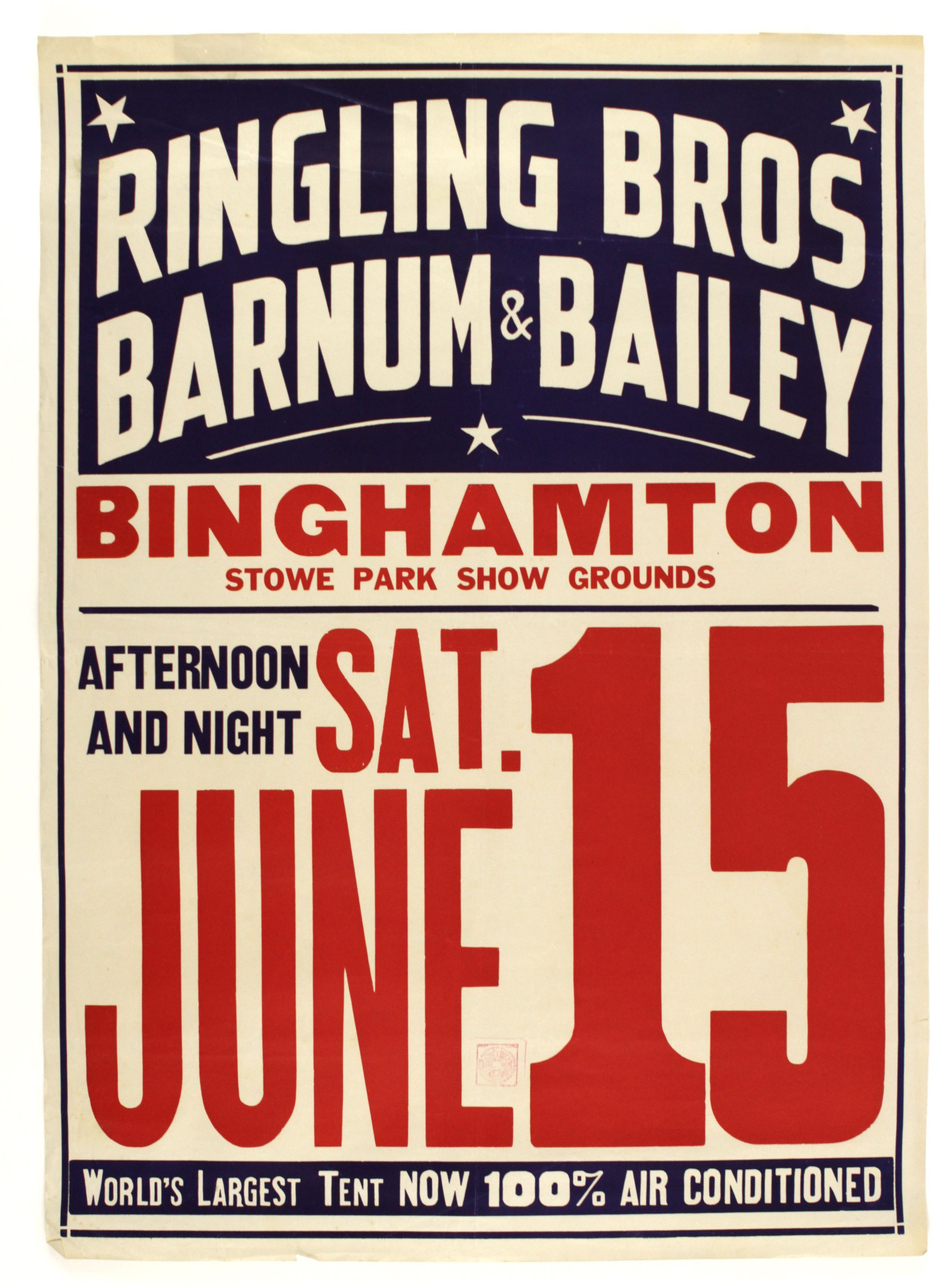 2 color poster design - 1940s Advertising Posters 1940s Ringling Bros Barnum Bailey 20 1 2