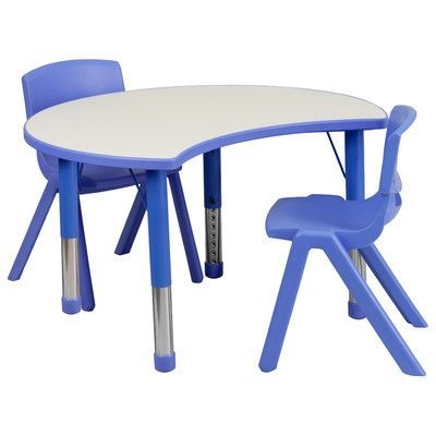 Flash Furniture 3 Piece Kidney Activity Table Finish: