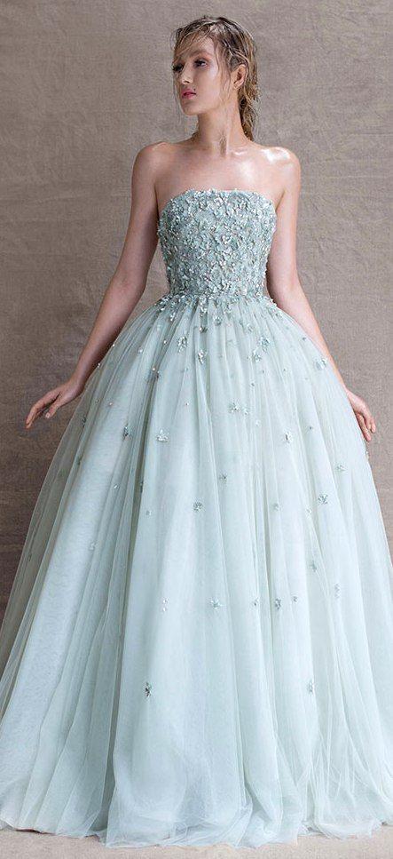 Blue Cinderella Wedding Dress