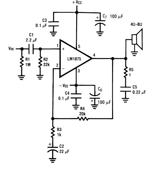 LM1875 Audio Amplifier Pinout, Datasheet, Equivalent
