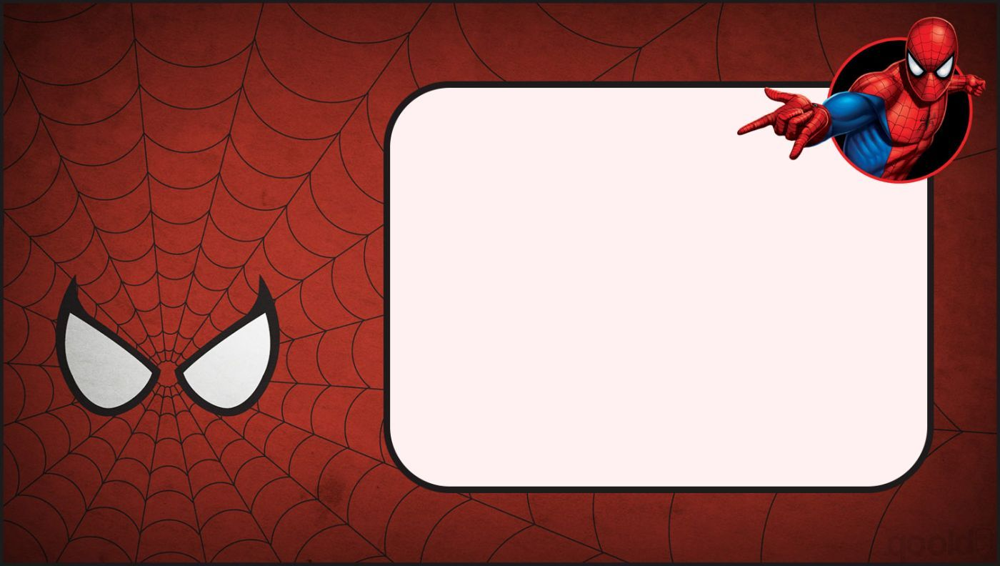 Spiderman Invitation Template Spiderman Birthday