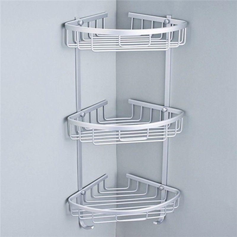3 Tailles Espace En Aluminium Triangulaire Douche Caddy