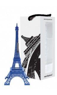 Design MerciGustave by Nathalie Leret & Yves Castelain Sous coffret carton avec fenêtres et poignée passemanterie assortie • Peint à la main • Marquage numeroté • Certificat avec reprise du numéro • Minicatalogue• Dimensions : 31,5x13x13 • Poids : 400g (+emballage 220g) • base en alliage de zinc • Made in RPC #Blue #Eiffel #Tower ($59)