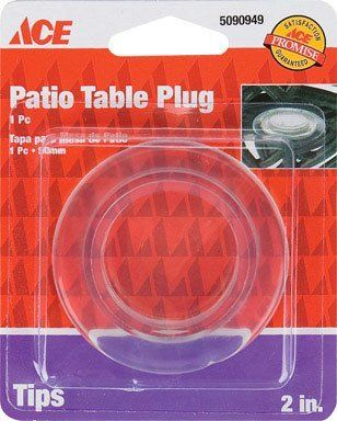 Ace Patio Table Umbrella Cover Protector Plug 2 Od Clear By Ace