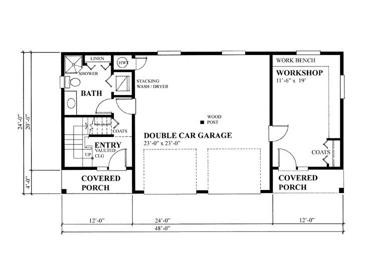 1st Floor Plan Garage Workshop Plans House Plans How To Plan
