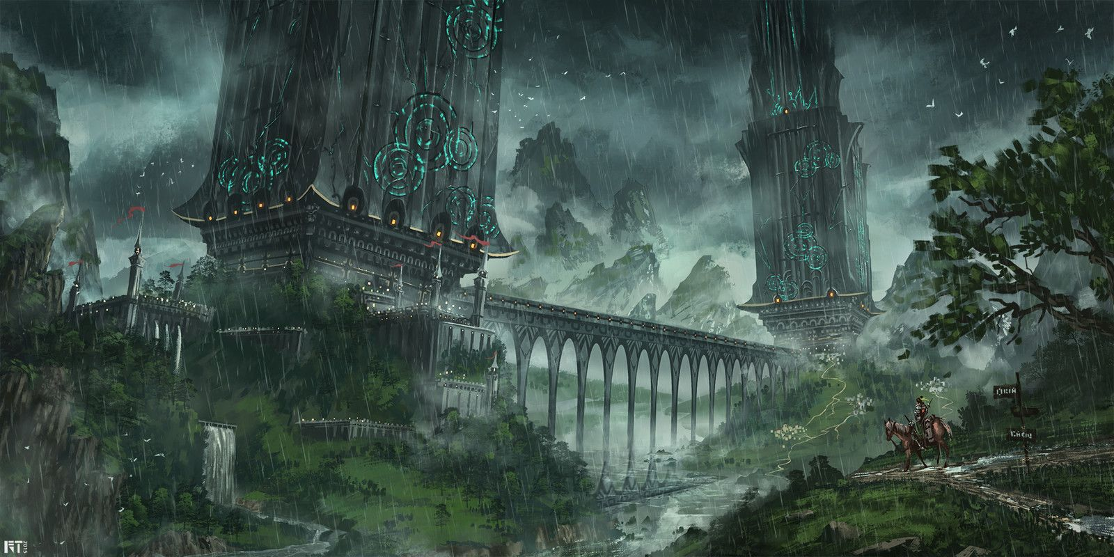 Rainy Mood, Robin Tran on ArtStation at https://www.artstation.com/artwork/JDB9d