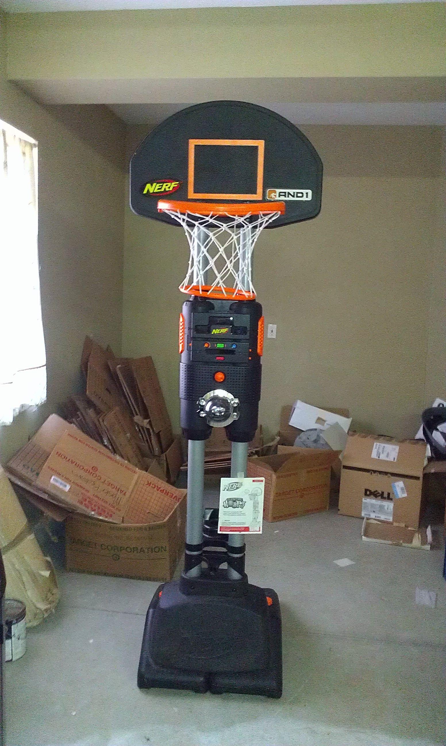 Nerf showtime hoops in buddy 39 s garage sale in murrieta for Basketball hoop inside garage