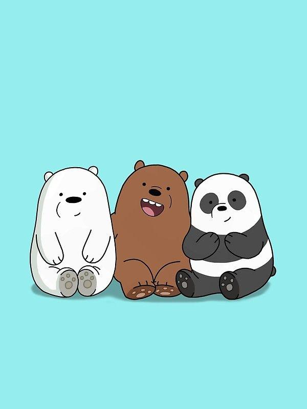 We Bare Bears Cartoon Baby Bear Cubs Grizz Panda Ice Bear Buku Mewarnai Kartun Beruang Panda