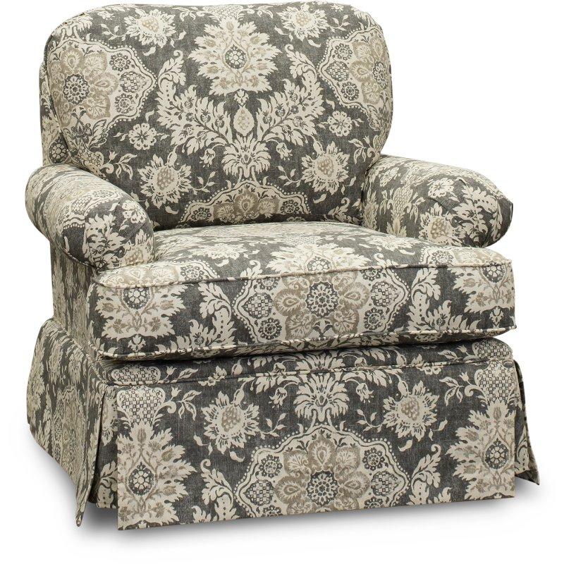 Gray And Cream Traditional Swivel Glider Chair Paradigm Swivel