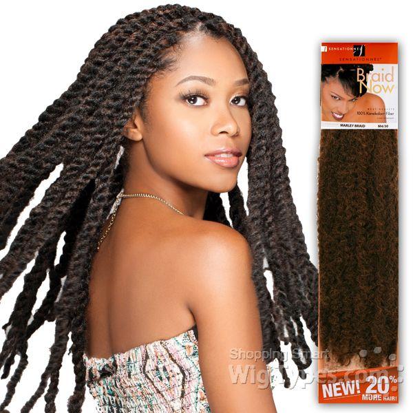 Sensationnel Synthetic Braid Reggae Braid Marley Braid 7964 Marley Braids Braided Ponytail Hairstyles Half Wigs