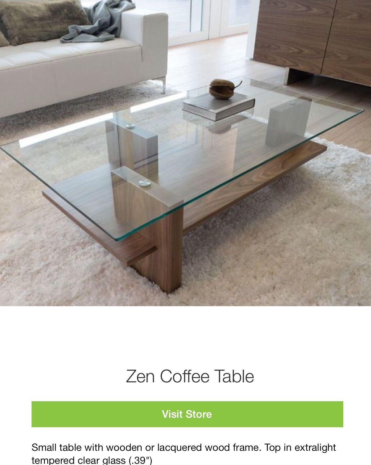 zen coffee table  modern glass coffee table coffee table