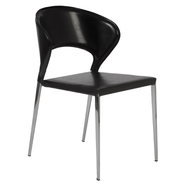Dining chair, leather/fabric over metal frame (http://www.mcdfurniture.com/) -- 1 of 12