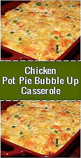 Casserole Bubble Up à la tarte au poulet - Recettes de plats savoureux 2 tasses de chìcken cuit et râpé 1 boîte de crème de soupe au chìcken 1 tasse de crème sure 1 tasse de cheddar ...