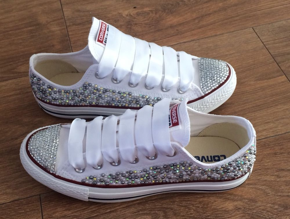 8c5e7cf612bf Much cheaper on ebay - Adults Bling Converse Size 3-8 Beautiful ...