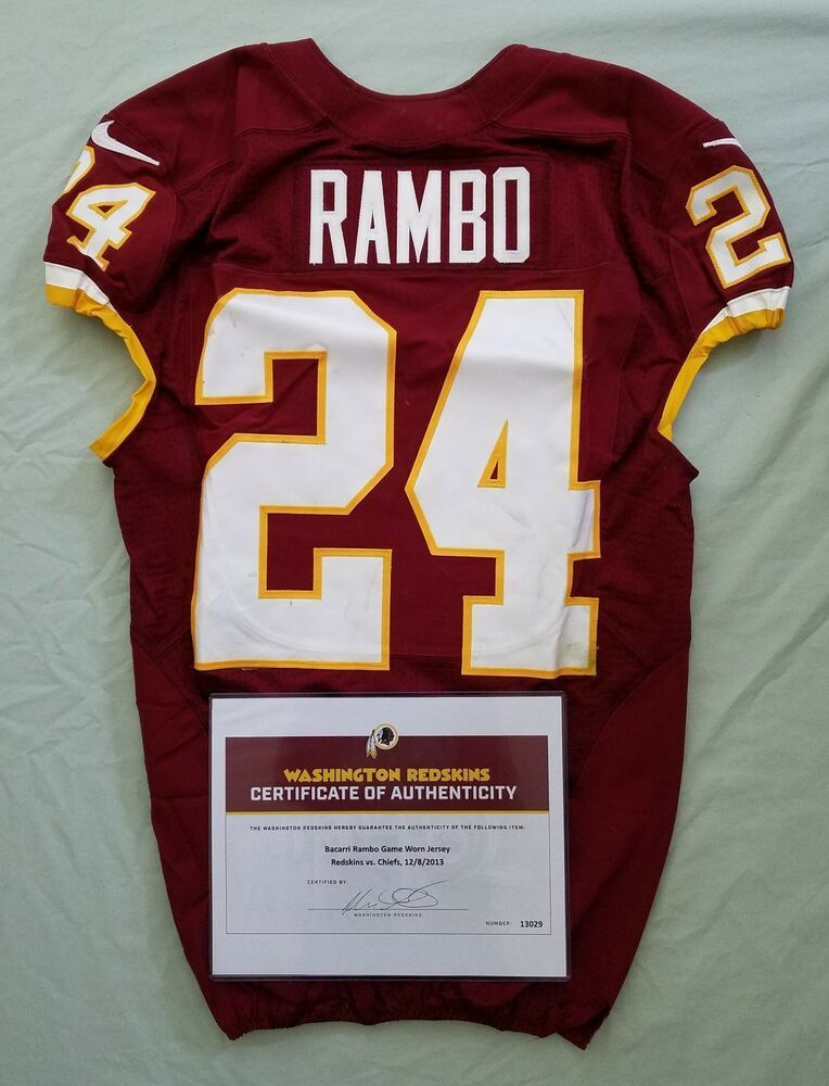 info for 6a292 7f62f eBay #Sponsored #24 Bacarri Rambo of Redskins NFL Game Used ...