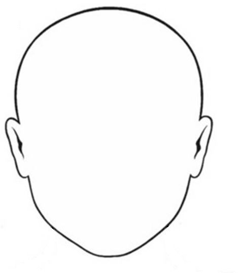 Blank Faces Drawing Page Printable Crafthubs Clipart Best Clipart Best Face Template Face Stencils Coloring Pages