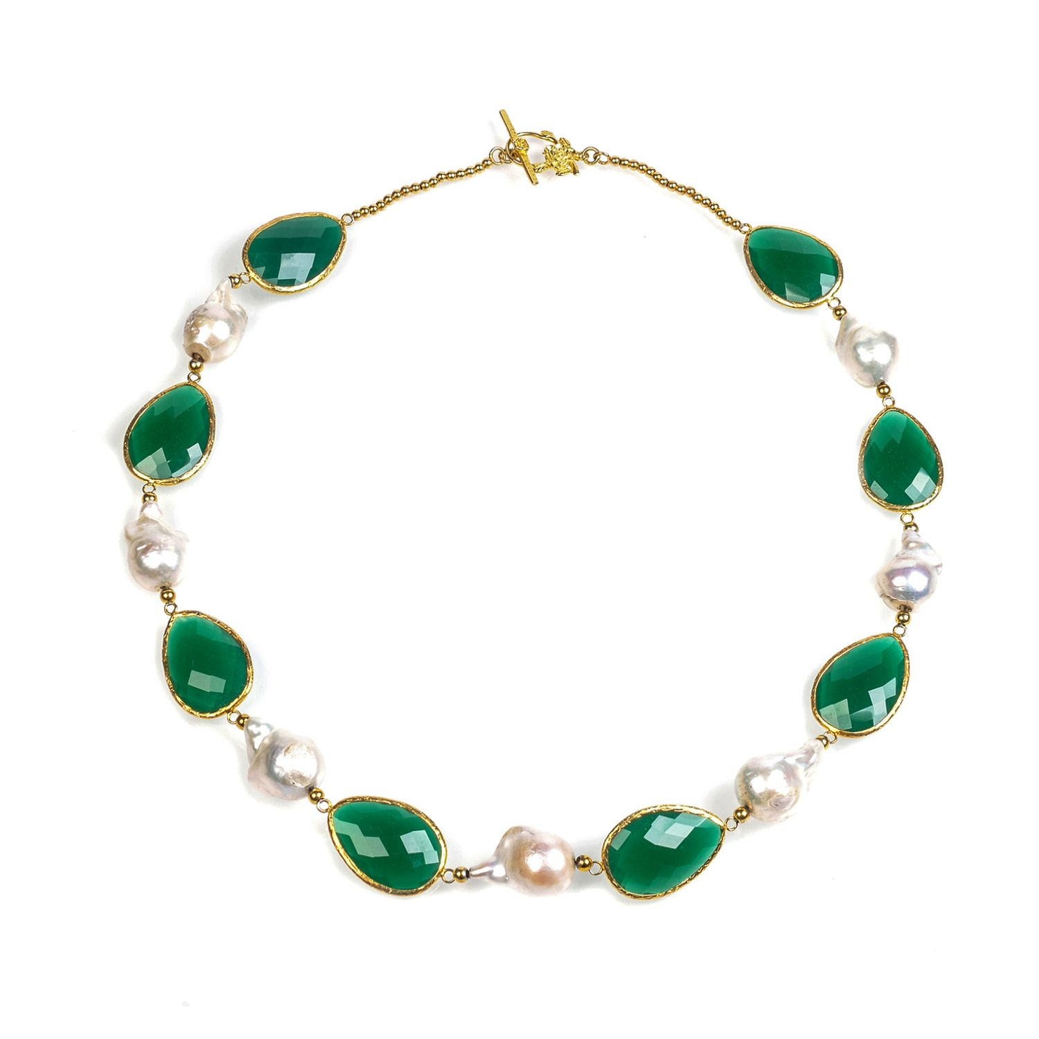 htm yellow karat onyx green gold necklace