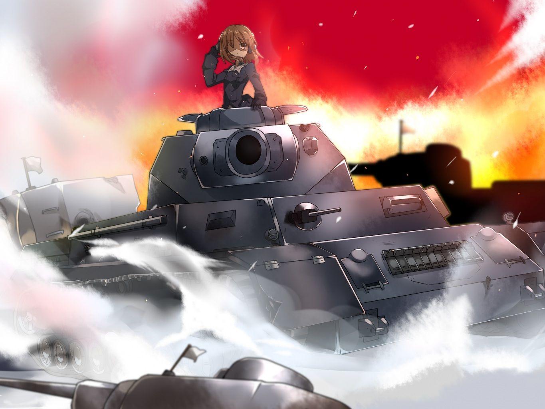 Girls und panzer Anime military, Girl cartoon, Tank