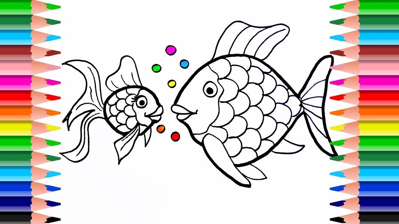 Fish Coloring Pages How To Draw Fish Small Fish Big Fish Learn Colo Fish Coloring Page Fish Drawings Drawn Fish