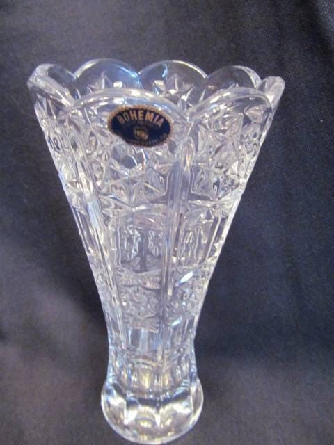 Bohemia Czech Republic Lead Crystal Vase By Attictreasures4u 14 00 Etsy Amp Ebay Galore