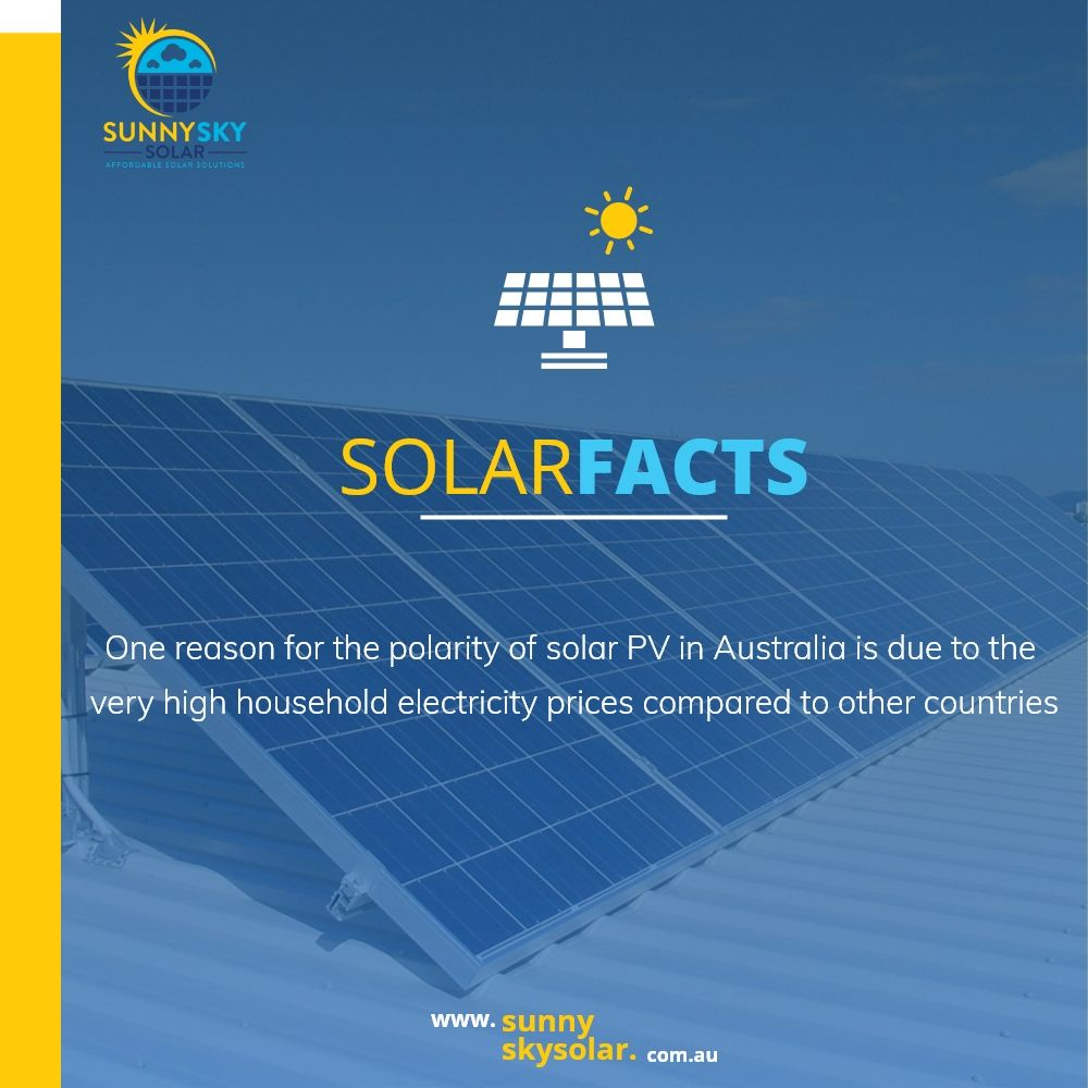 One Reason For The Polarity Of Solar Pv In Australia Is Due To The Very High Household Electricity Prices Co In 2020 Solar Facts Solar Pv Systems Solar Power Batteries