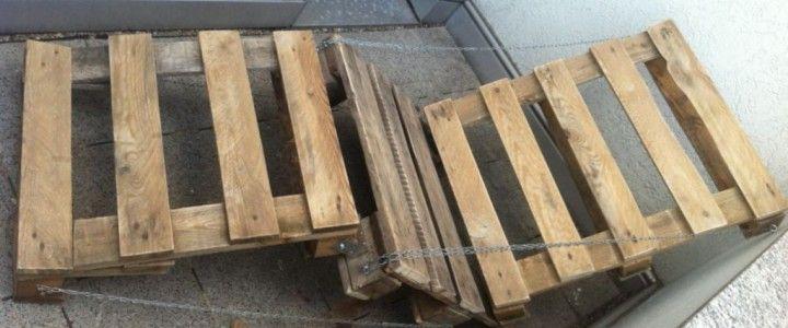 Gartenmöbel selber bauen Lehnstuhl/Gartenliege aus Paletten 1