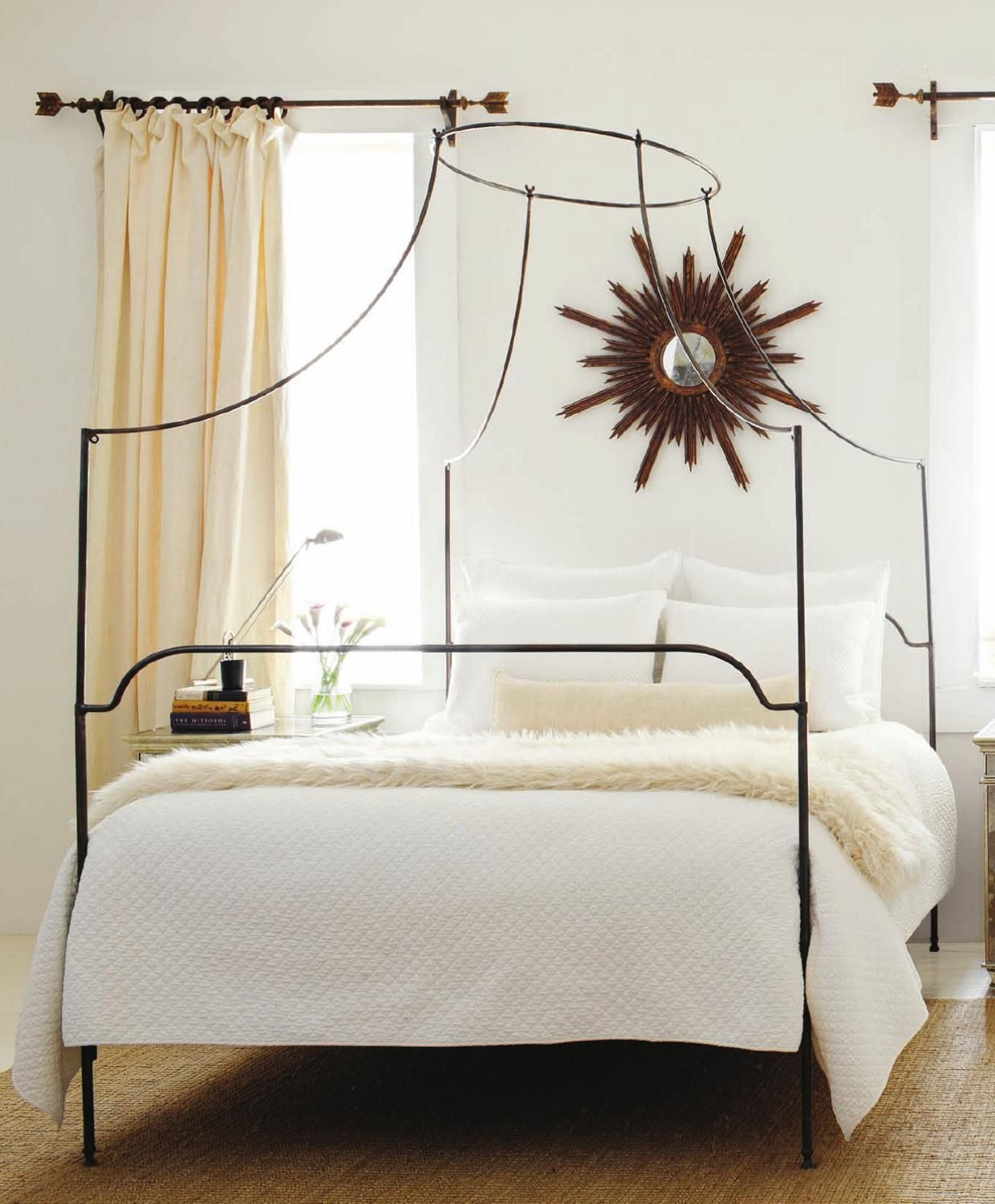 Atlanta Homes & Lifestyles Metal canopy bed, Bed canopy
