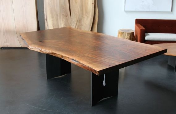 Urban Hardwoods Los Angeles Walnut Slab Dining Room Table
