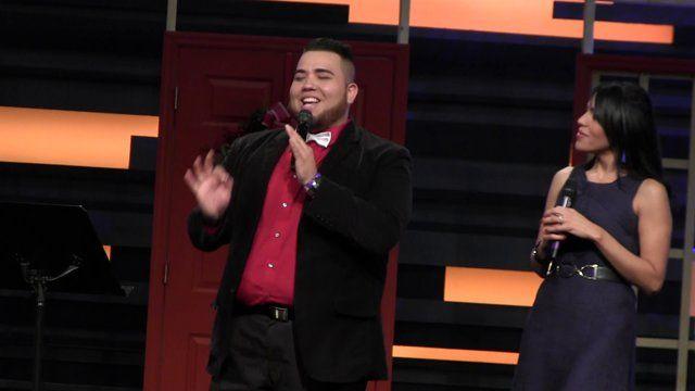 Paul Segovia y Dulce Blanco en Regalo Del Cielo 2014  Ambos presentadoras en Regalo Del Cielo 2014 en Iglesia Alfa y Omega Miami, Florida 20 de Diciembre 2014