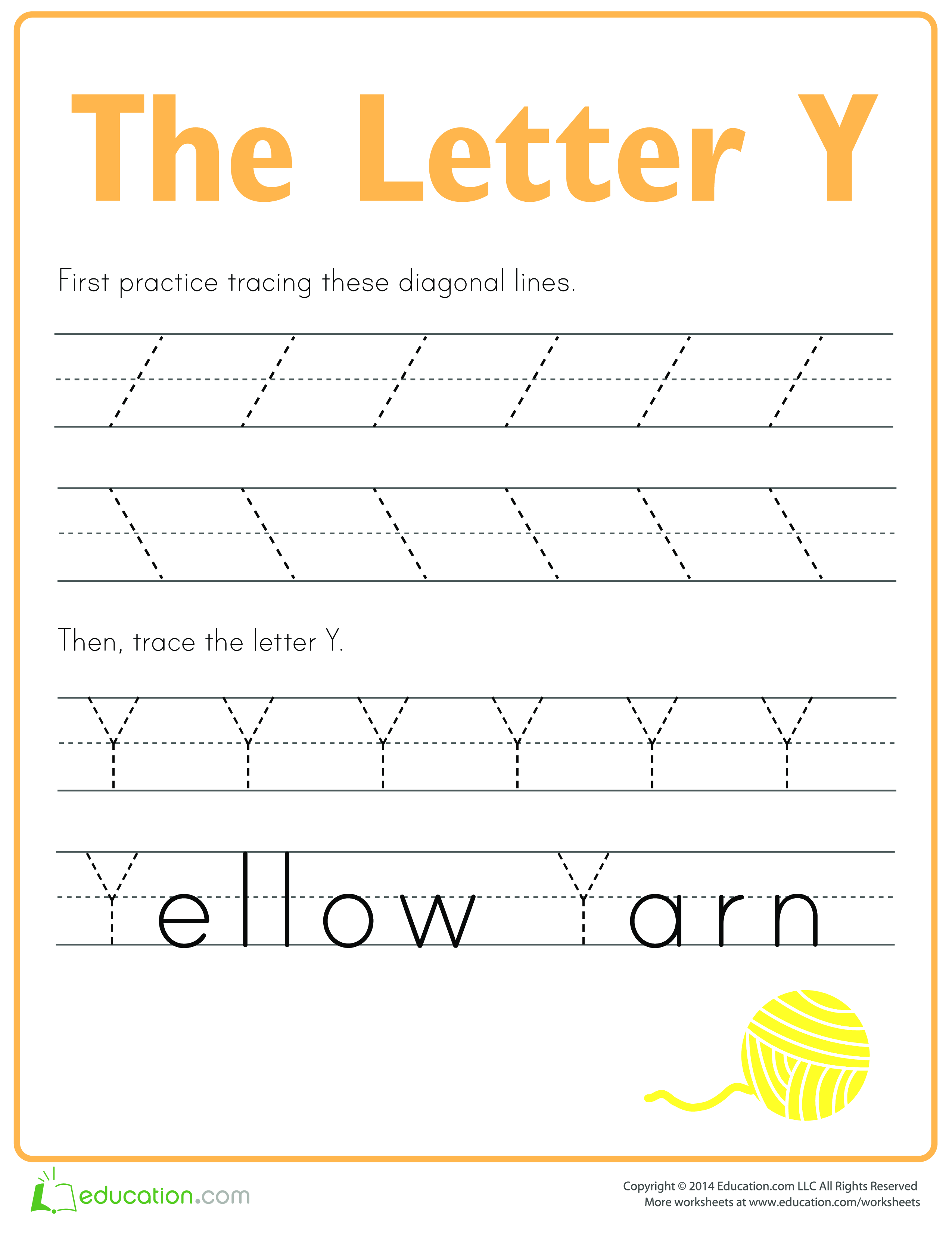 Learn To Write Letter Y
