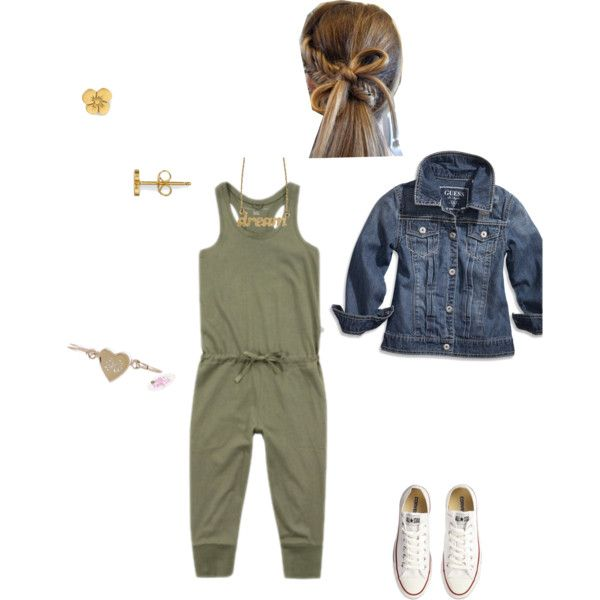 """Army Green Chic Kid"" by ndewalt on Polyvore"