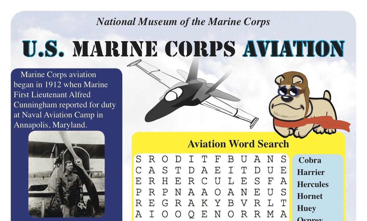 United States Marine Corps Aviation Worksheet A Great Way