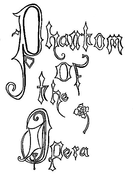 22++ Phantom of the opera coloring page free download