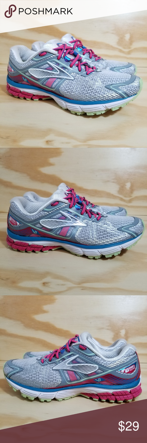 f3a5a7e3e2b Women s Brooks Ravenna Running Shoes Women s Brooks Ravenna Running Shoes  Size 9 White Pink Mesh Laces