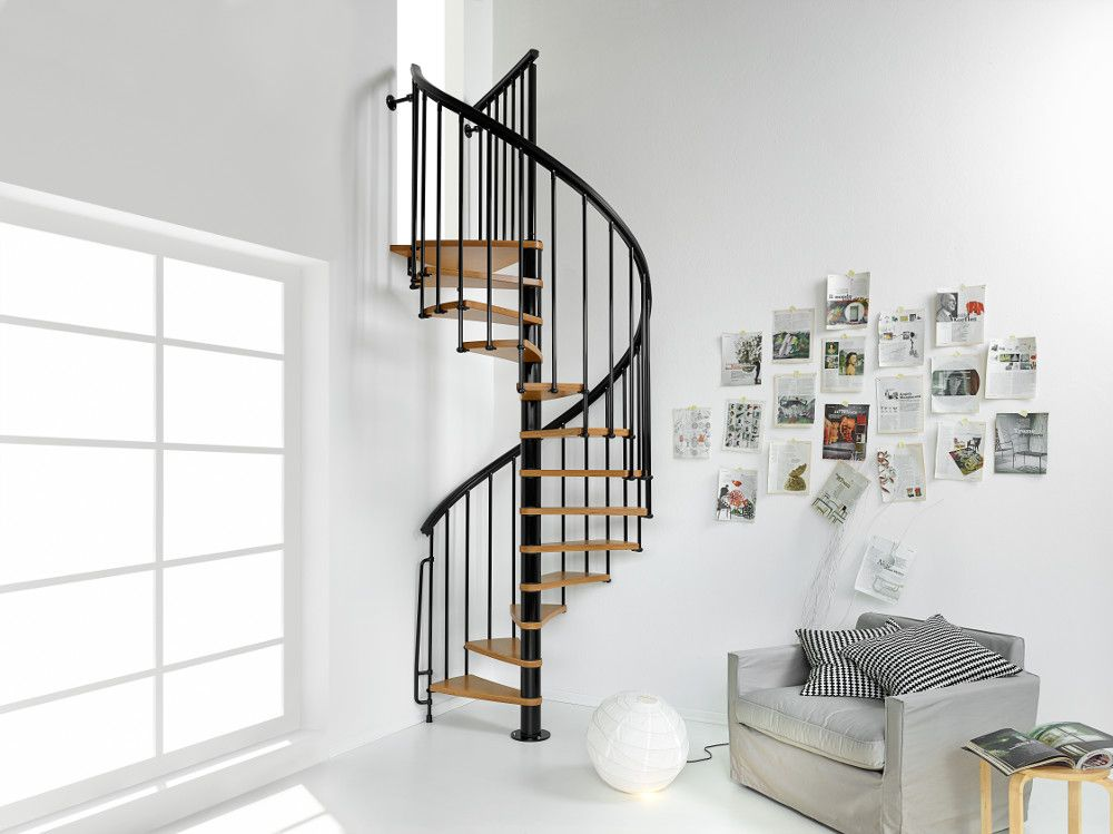 Nice1 staircase kit from Arkè, Inc, in black with natural