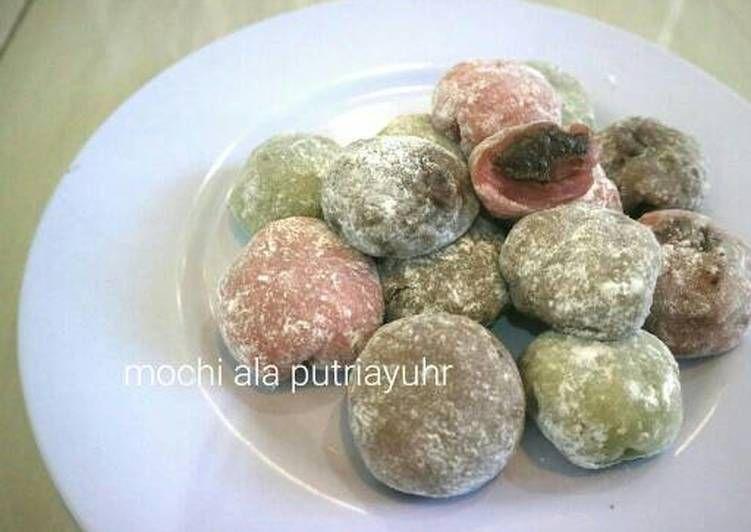 Resep Mochi Rainbow Isi Coklat Oreo Oleh Putriayuhr Resep Moci Coklat Oreo