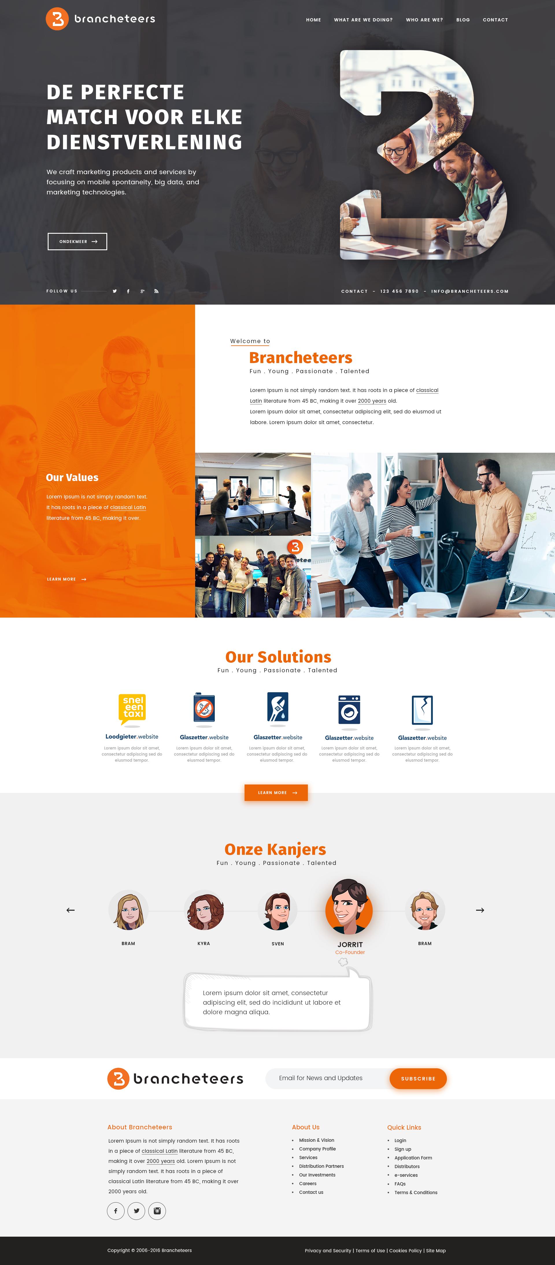 Fun And Creative Website Design For Marketing Agency 99designs Creative Website Design Webpage Design Web Design