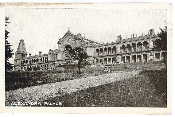 Alexandra Palace Photo Postcard c. 1910 by GatherAntiques on Etsy, $3.50