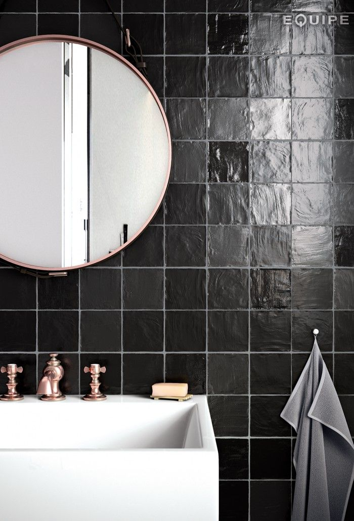 Mallorca 100x100 Black Bathroom 700x1030 Jpg 700 1030 Tendencias De Bano Baldosas Bano Banos Negros