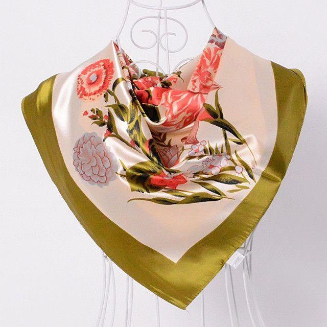 [BYSIFA] Ladies Black White Silk Scarf Shawl 2017 New Design Brand Large Square Scarves Wraps Hot Sale Mulsim Head Scarf Cape