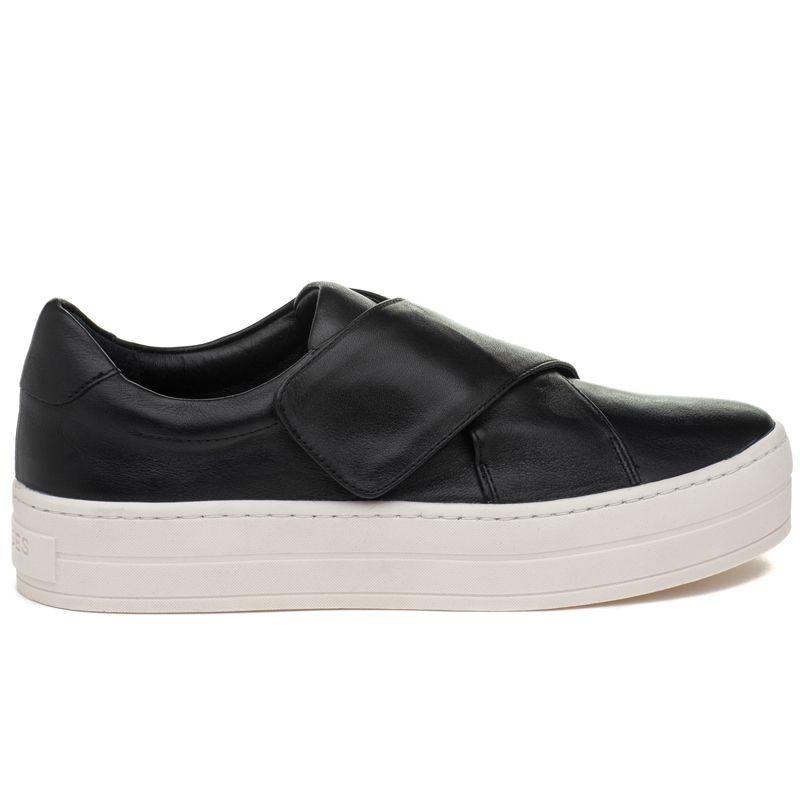 JSlides HARPER Black Leather | Sneakers