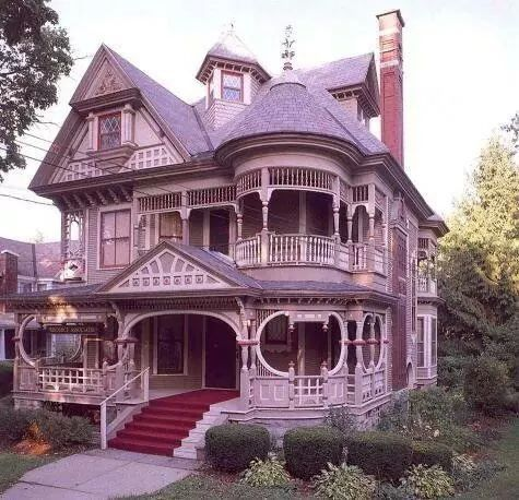 Gingerbread Victorian In Cortland Ny Victorian Homes Victorian Architecture Victorian Style Homes