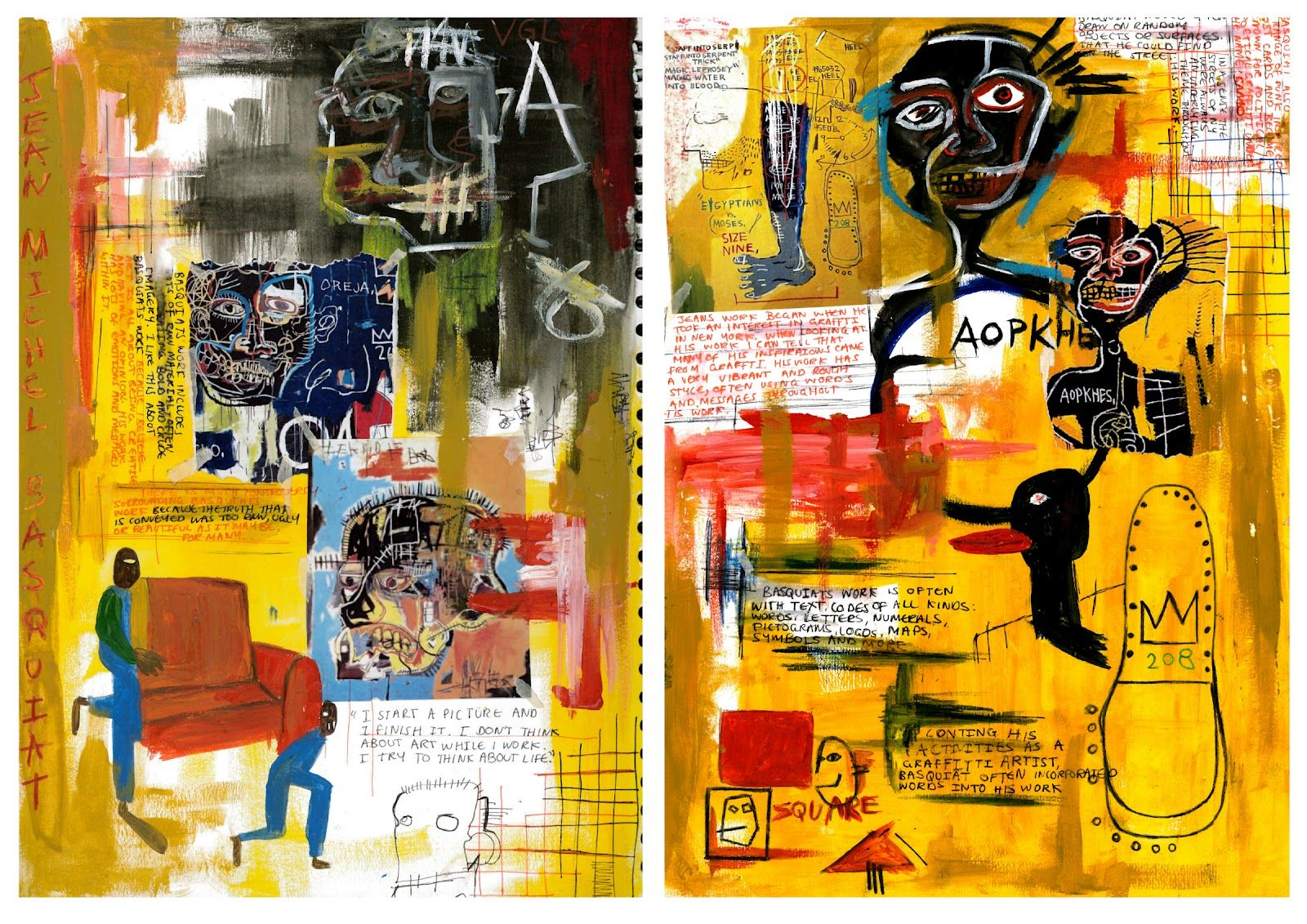 collage art of basquiat