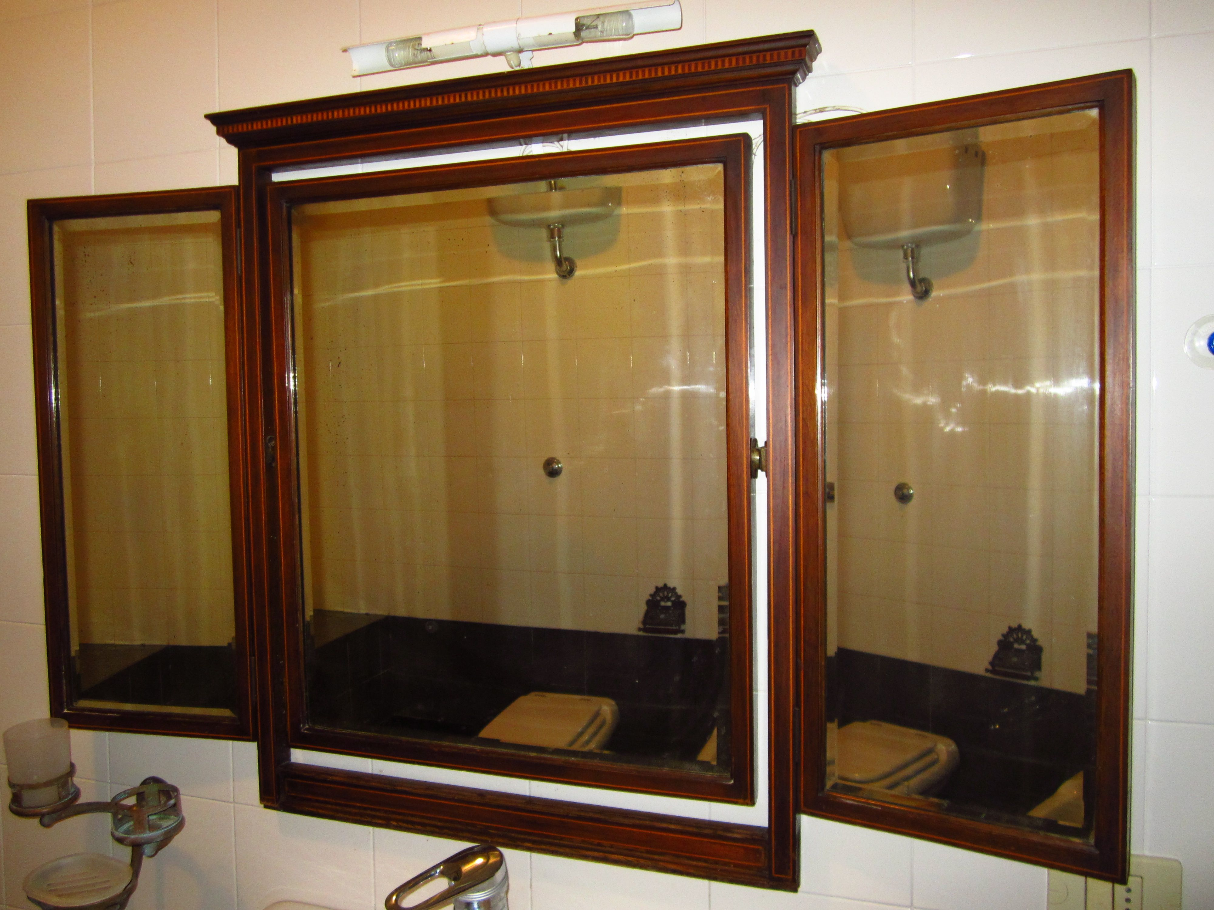 Beautiful mirror triple edwardian bathroom mirror for the home